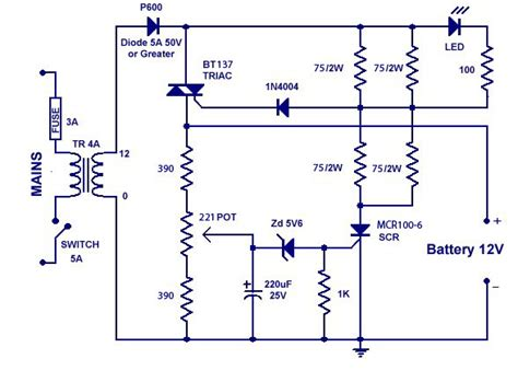 car battery charger schematic diagram get free image