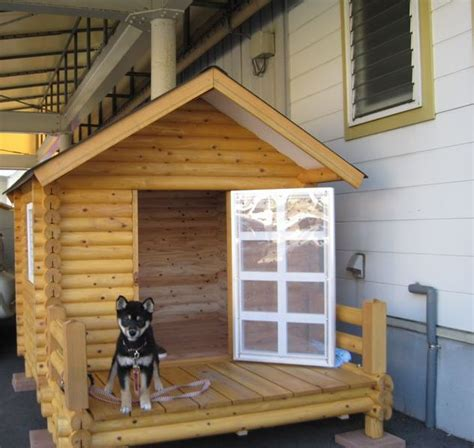 dog house cool in summer rogupethouse rakuten global market log dog kennel dog kennels penthouse 1100