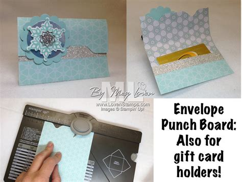 easy gift card holders envelope punch board alert lovensts - Envelope Punch Board Gift Card Holder