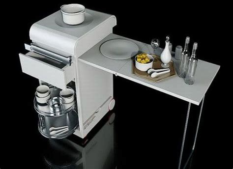 space saving kitchen furniture mini kitchen for a small apartment by joongho choi