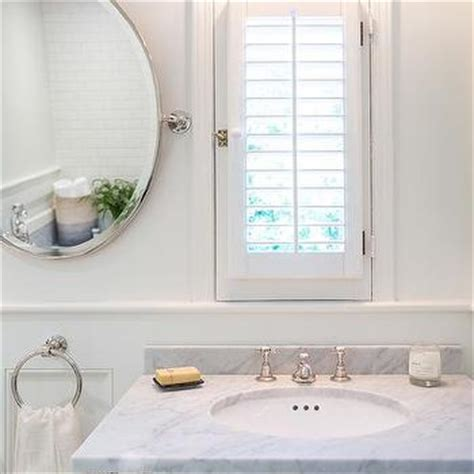 lieu bathroom marble washstand with side framed inset medicine cabinet