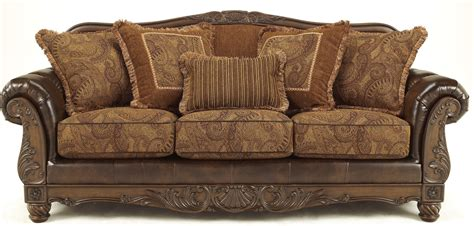 antique couches fresco durablend antique sofa from ashley 6310038