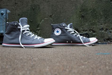 Sepatu Converse All Slim converse slim high top chuck taylors in grey