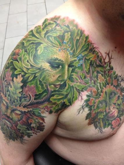 mother earth tattoo designs nature done by randy engelhard pierced