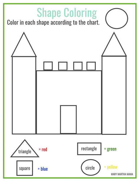 Drawing Using Shapes by Shapes Worksheets For Preschool Free Printables