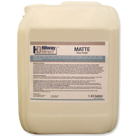 Matte Floor Finish by Hd M133 Hilway Direct Floor Finish Matte 1 33 Gal Ebay