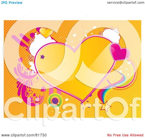 Shiny Funky And A License To Wed by Royalty Free Rf Clipart Illustration Of A Funky Shiny
