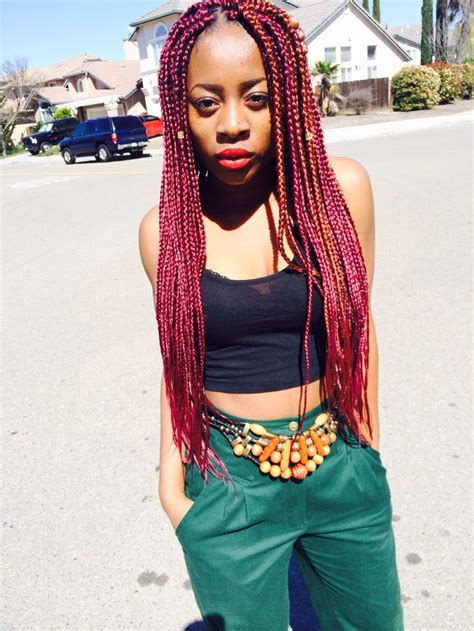 pics of box braids with color box braids color burg and 350 in rasta fri hair