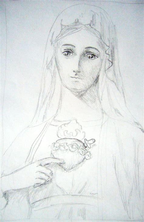 imagenes a lapiz de la virgen maria im 225 genes de la virgen maria a l 225 piz imagui