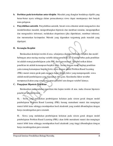 jurnal membuat hipotesis jurnal proposal seminar pend biologi