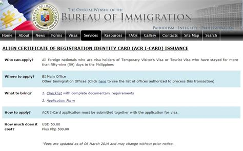 immigration registration card template certificate of registration philippines information