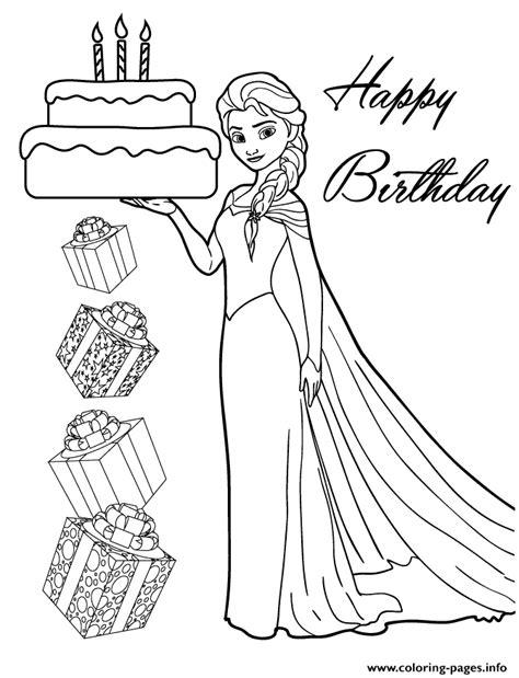 elsa birthday coloring page elsa holding birthday cake for you colouring page coloring