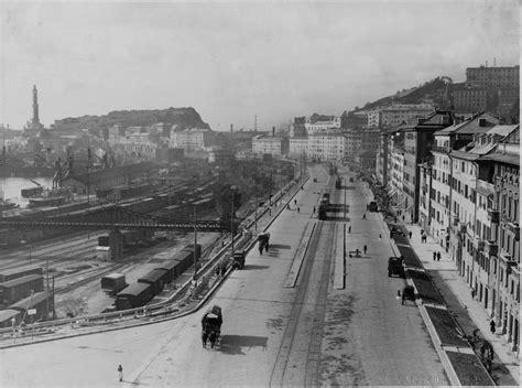 la via porto di genova genova via affacciata sul porto negli anni 30