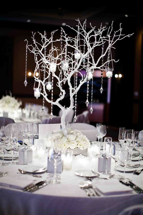 winter wedding tree centerpieces winter wedding ideas birch bark details branch d 233 cor