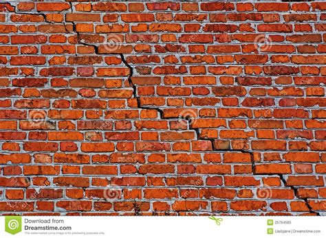 royalty free brick wall pictures images and stock photos brick wall with diagonal crack stock image image 25764565