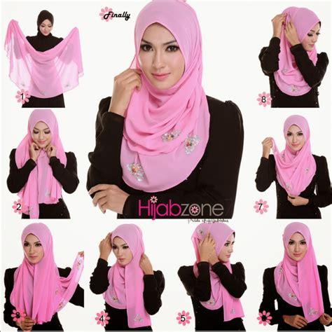 memakai hijab segitiga simple  mudah elegantria