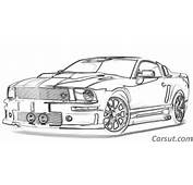 Muscle Car Drawings  Carsut Understand Cars And Drive Better