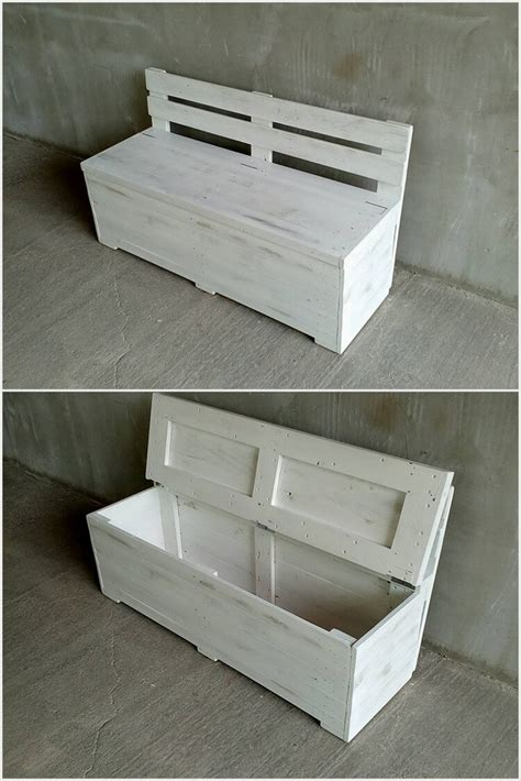 pallet bench with storage unique and pretty wooden pallet projects pallet wood