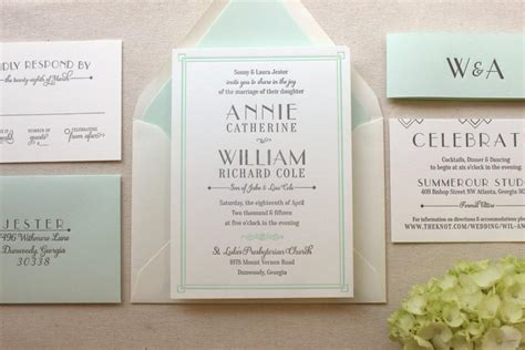 Wedding Invitation Suite by The Lush Deco Suite Letterpress Wedding Invitation Suite