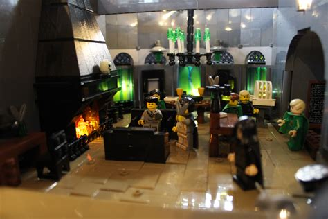 slytherin common room finch s and detailed lego harry potter hogwarts sculpture is absolutely magical