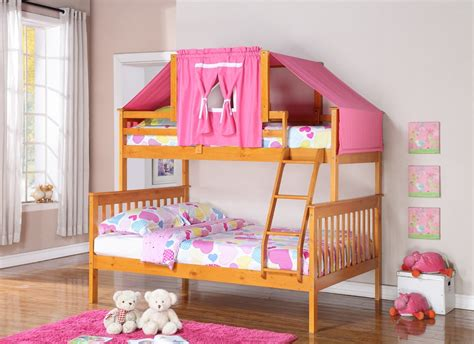 Kids Room Perch Twin Bunk Bed In White Birch Modern Best Bedding For Bunk Beds