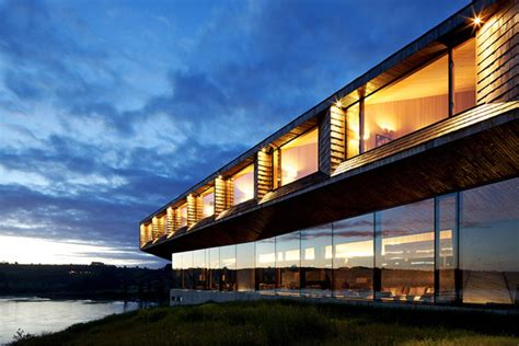 modern hotel imposing modern hotel with extensive glass facade in chile