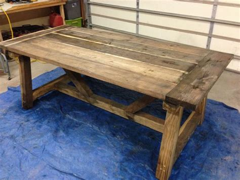 Build A Rustic Dining Room Table | how to build a rustic dining room table large and