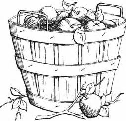 free basket of apples coloring pages