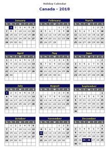 Canada Calendario 2018 Canada 2018 Printable Calendar 171 Printable Hub