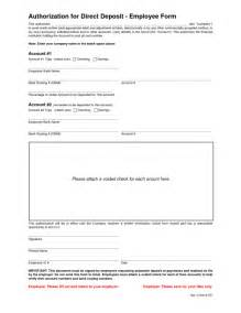 Direct Deposit Form Template by 5 Direct Deposit Form Templates Excel Xlts