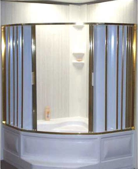folding accordion tub and shower doors retro renovation