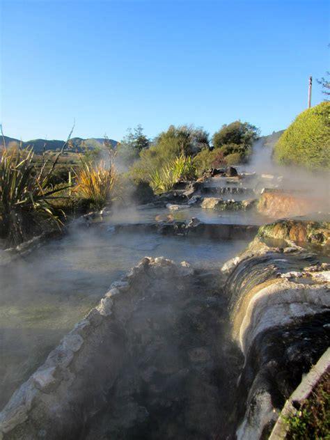 Rotorua thermal hot pools woman