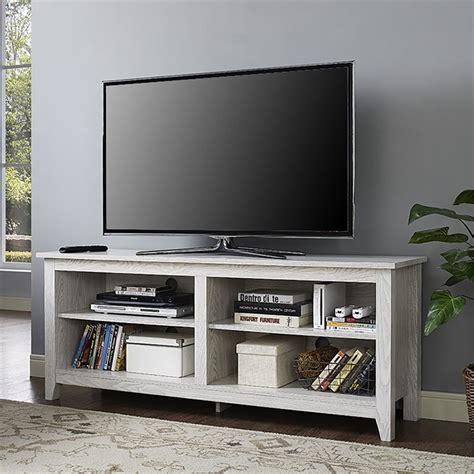 whitewash tv stand walker edison 58 quot tv stand in white wash w58cspww