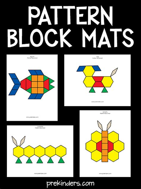 kindergarten pattern blocks printables pattern block mats prekinders