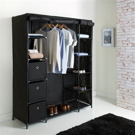 Canvas Wardrobe Deluxe Large Canvas Wardrobe Bedroom Furniture Furniture