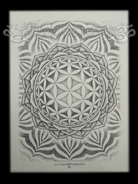 flower of life mandala 2012 by villkat arts on deviantart
