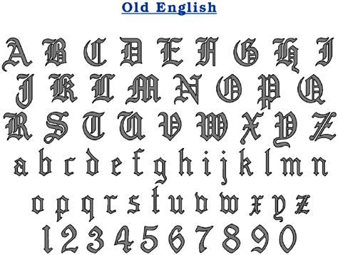 tattoo writing styles numbers new old english fonts and number tattoo designs