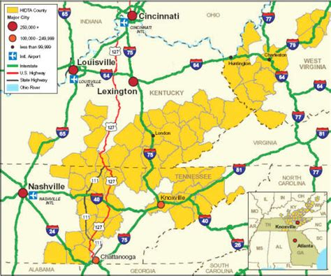 kentucky hidta map transportation appalachia hidta market analysis
