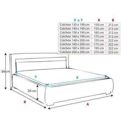 medidas de una cama de matrimonio resultado de imagen para cama medidas decora 231 227 o