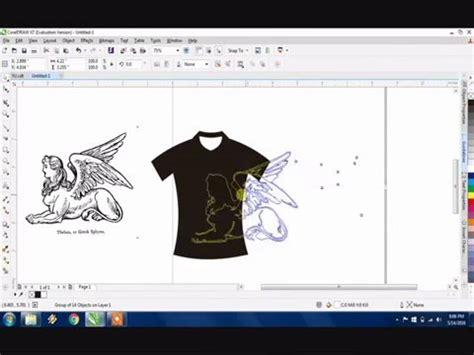 desain gambar corel draw cara memasukan objek gambar ke dalam desain kaos dengan