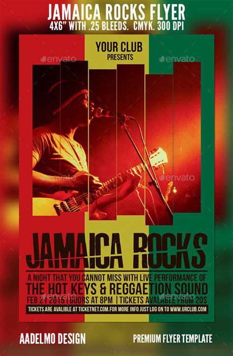 Jamaica Rocks Flyer Graphicriver Jamaican Flyer Templates