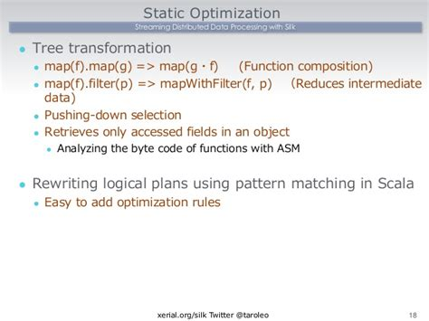 pattern matching boolean scala streaming distributed data processing with silk deim2014