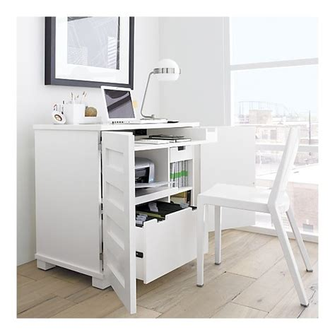 Small Laptop And Printer Desk Incognito White Compact Office Desk Office Ideas