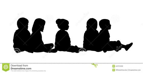 Museum Floor Plans by Medium Group Of Children Seated Silhouette 6 Stock