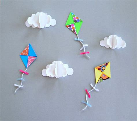 Of Kite With Paper - paper kites for decoration abc color