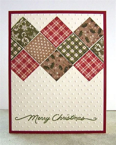 pattern christmas card pin by tricia stevenson on homemade cards pinterest