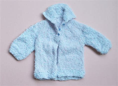 baby knitted jackets soft blue knitted jacket for a baby boy by the