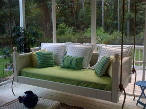 bed swings for porches emerson bed swing from vintage porch swings charleston