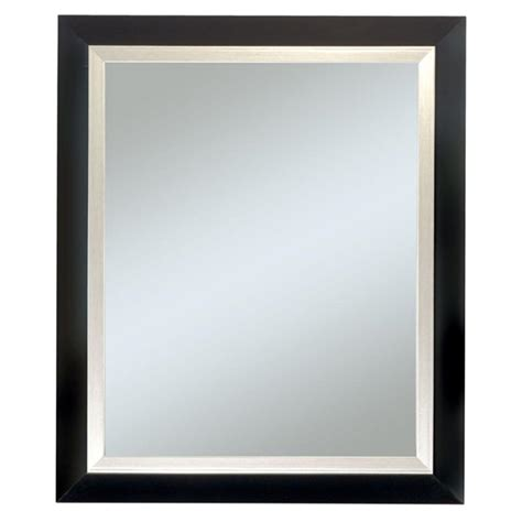 frame design black executive black frame with silver trim wall mirror 4414