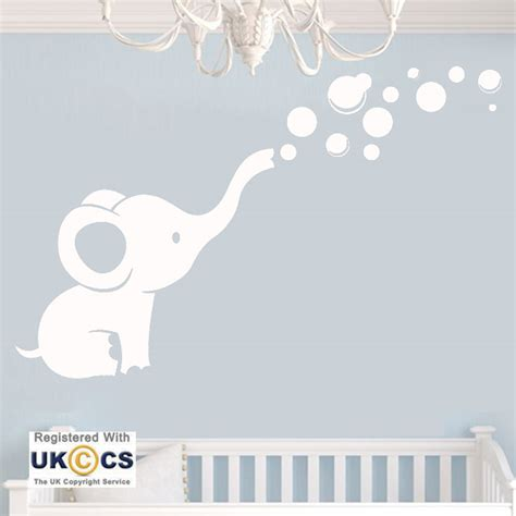 Boys Wall Art Stickers animal elephant cute nursery girls boys wall art stickers